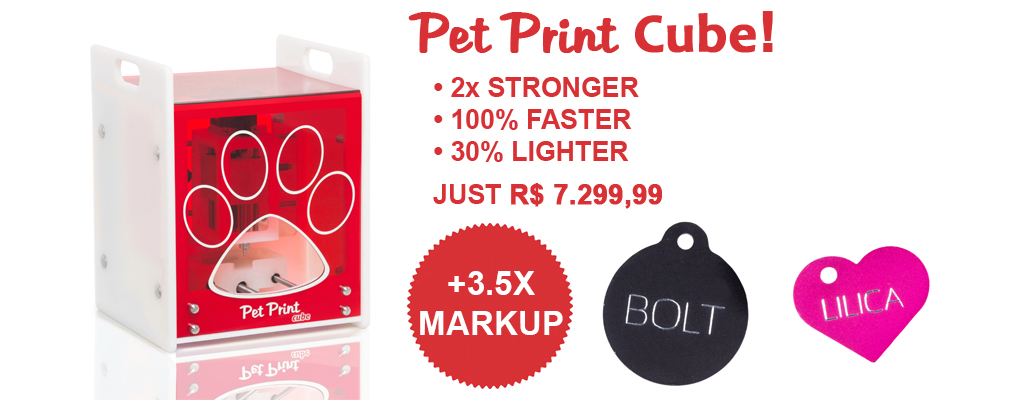 Pet Print Cube, buy now! A great investment. Affordable for small pet stores!